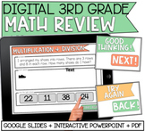DISTANCE LEARNING: 3rd Grade Math Review (Google Slides&PDF)
