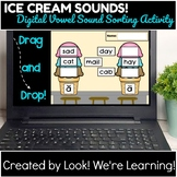 DISTANCE LEARNING - Digital Ice Cream Vowel Sound Sorting