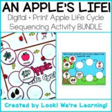 DISTANCE LEARNING: Digital + Print Apple Life Cycle Sequen