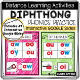 DISTANCE LEARNING - Diphthong Phonics Practice - Interacti