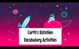 DISTANCE LEARNING Earth's Rotation Vocabulary Slides