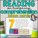 Reading or Listening Comprehension -Lucky Charms | BOOM CARDS™