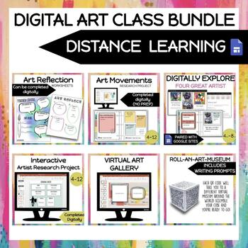DISTANCE LEARNING FOR ART CLASS (BUNDLE)