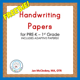 DISTANCE LEARNING FREE Printable Handwriting Paper for pre
