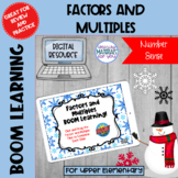 DISTANCE LEARNING Factors and Multiples Boom Learning℠ | WINTER