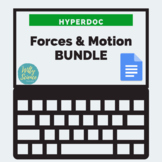 DISTANCE LEARNING Forces and Motions HyperDoc BUNDLE