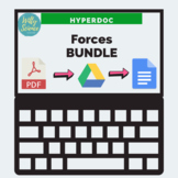DISTANCE LEARNING Forces and Motions HyperDoc BUNDLE (pdf