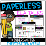 DISTANCE LEARNING Kindergarten PAPERLESS ELA Talks- The Fi