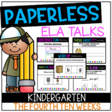DISTANCE LEARNING Kindergarten PAPERLESS ELA Talks- The Fo