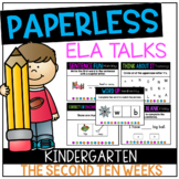 DISTANCE LEARNING Kindergarten PAPERLESS ELA Talks- The Se