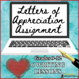 DISTANCE LEARNING LETTERS OF APPRECIATION HIGH SCHOOL ASSIGNMENT