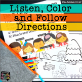 DISTANCE LEARNING Listen, Color and Follow Directions Lang