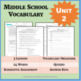DISTANCE LEARNING: NO PREP Middle School Vocabulary (4 WEE