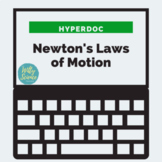 DISTANCE LEARNING Newton's 3 Laws of Motion HyperDoc