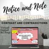 DISTANCE LEARNING (Notice and Note) Contrast and Contradic
