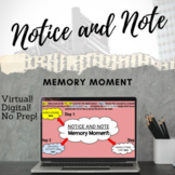 DISTANCE LEARNING (Notice and Note) Memory Moment Lesson