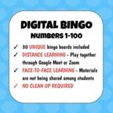 DISTANCE LEARNING   Numbers 1-100 Digital Bingo   Spanish French Italian German