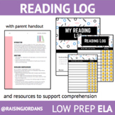 DISTANCE LEARNING- Reading Log