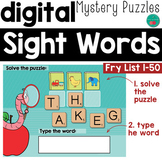 DISTANCE LEARNING Sight Words Fry 1-50 Google Classroom Activity