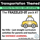 DISTANCE LEARNING Transportation Theme Special Education o