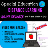 DISTANCE LEARNING VIDEO MINI LESSON: How to Draw an Analog Clock SPECIAL ED