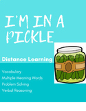 "DISTANCE LEARNING: Vocabulary Game ""I'm In A Pickle"""