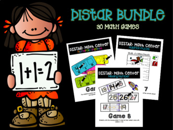 DISTAR BUNDLE: Math Independent Centers -(Set 1,2,3)