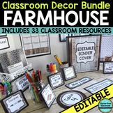 FARMHOUSE Classroom Decor EDITABLE