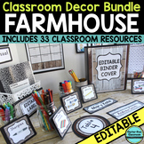 FARMHOUSE Classroom Decor EDITABLE