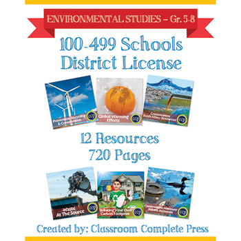 DISTRICT LICENSE 100-499 – Year Long Program – ENVIRONMENTAL STUDIES –Grades 5-8