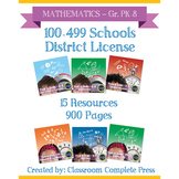 DISTRICT LICENSE 100-499 – Year Long Program – MATHEMATICS – Grades PK-8