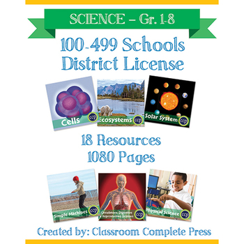 DISTRICT LICENSE 100-499 – Year Long Program – SCIENCE – Grades PK-8