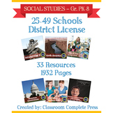 DISTRICT LICENSE 25-49 – Year Long Program – SOCIAL STUDIES – Grades PK-8