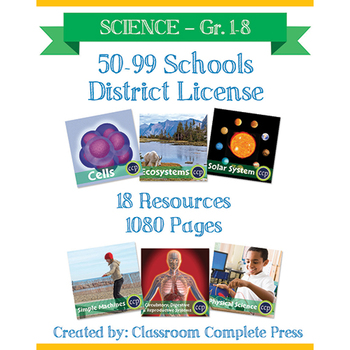 DISTRICT LICENSE 50-99 – Year Long Program – SCIENCE – Grades PK-8