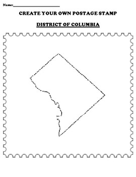 DISTRICT OF COLUMBIA Create your Own Postage Stamp Worksheet