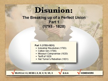 DISUNION - Causes of the Civil War, Part 1