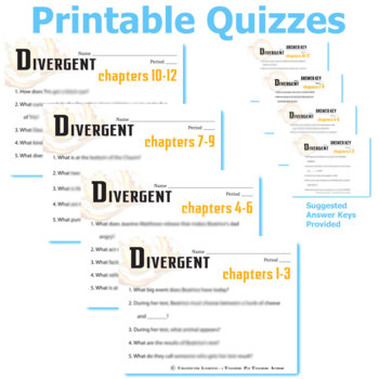 DIVERGENT 13 Pop Quizzes Bundle