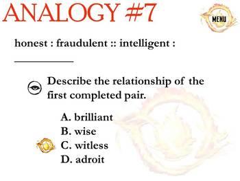 DIVERGENT Analogies PowerPoint & Worksheet