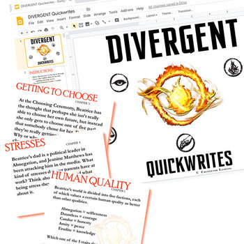 DIVERGENT Journal - Quickwrite Writing Prompts (Created for Digital)