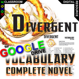 DIVERGENT Vocabulary List and Quiz Assessment (Created for