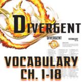 DIVERGENT Vocabulary List and Quiz (chap 1-18)
