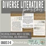 DIVERSE LITERATURE GENRE POSTERS | Multi-Cultural, Interna