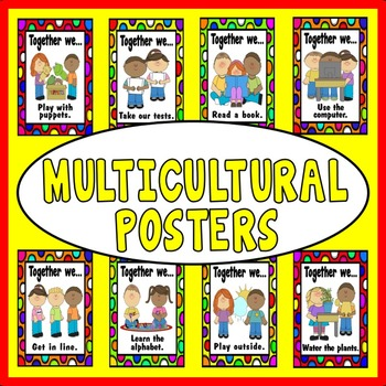 DIVERSITY AND MULTICULTURAL POSTERS -TEACHING RESOURCES DISPLAY EYFS KS 1-2