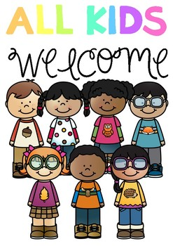 DIVERSITY POSTER *FREEBIE* 'ALL KIDS WELCOME!'