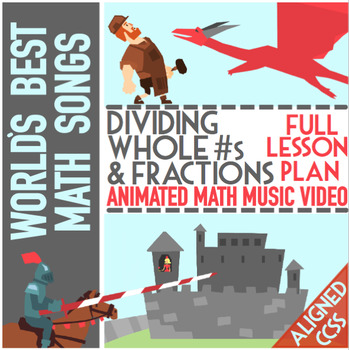 Dividing Whole Numbers By Fractions: Worksheets, Game, Song & Word Problems