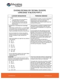 DIVIDING DECIMALS BY DECIMAL DIVISORS USING BASE 10 BLOCKS PART 2