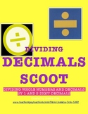 DIVIDING DECIMALS SCOOT!
