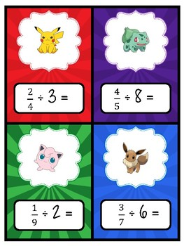 DIVIDING FRACTIONS Pokemon Battle!