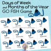 DIVING FOR Days of Week and Months of the Year GO FISH Game