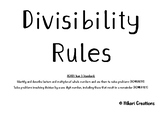 DIVISIBILITY RULES | Division | Year 5 MATHS (ACMNA098)